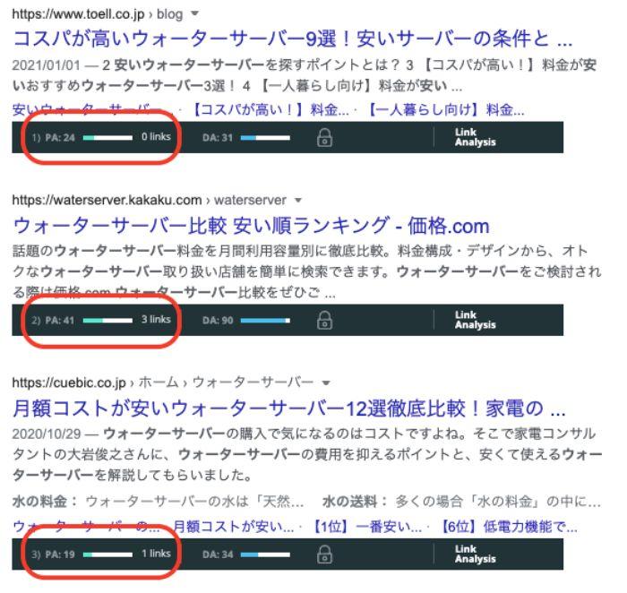 Mozbarで競合ブログを調べる2